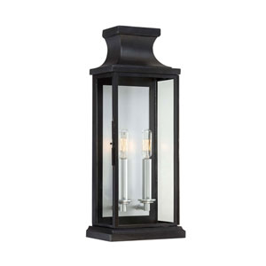 Whittier Black Two-Light Wall Sconce
