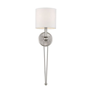Linden Satin Nickel One-Light Wall Sconce