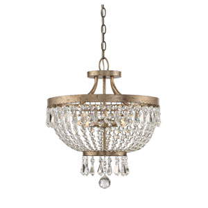 Wellington Weathered Gold Four-Light Semi Flush Mount
