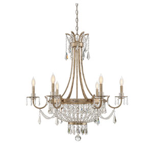 Wellington Weathered Gold Six-Light Chandelier