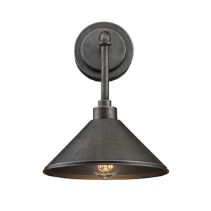 River Station Galvanized Metal One-Light Wall Sconce