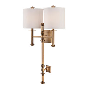 Whittier Brass Two-Light Wall Sconce