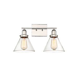 Afton Polished Nickel Two-Light Bath Vanity