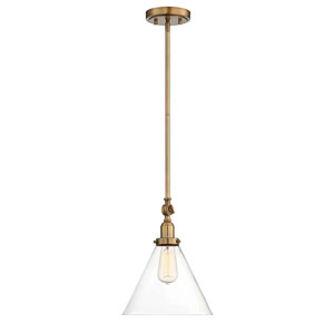 Afton Warm Brass One-Light Mini Pendant