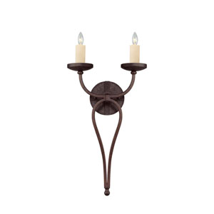 Wellington Oiled Copper Two-Light Wall Sconce