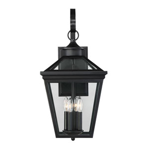 Kenwood Black Four-Light Outdoor Wall Sconce