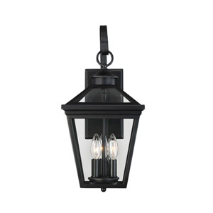 Kenwood Black 19-Inch Three-Light Outdoor Wall Sconce