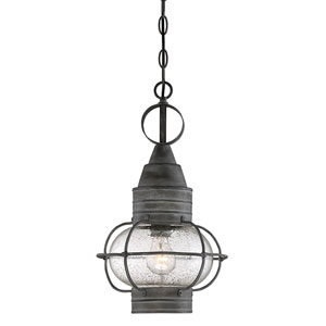 River Station Oxidized Black One-Light Outdoor Pendant