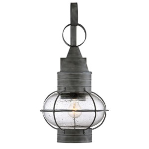 River Station Oxidized Black 22-Inch One-Light Outdoor Wall Sconce