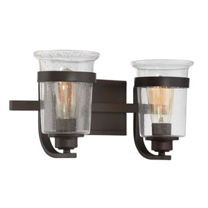 Afton Bronze Two-Light Bath Sconce