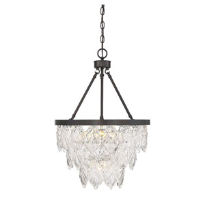 Vivian Bronze Five-Light Chandelier