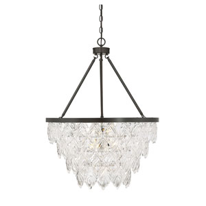 Vivian Bronze 26-Inch Seven-Light Chandelier