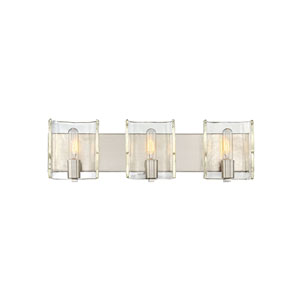 Nicollet Satin Nickel Three-Light Bath Vanity