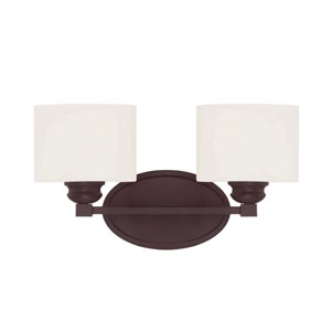 Evelyn Bronze Two-Light Bath Sconce