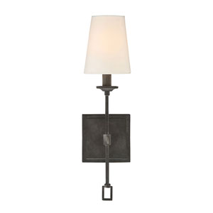 Afton Oxidized Black One-Light Wall Sconce