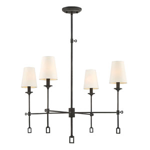 Afton Oxidized Black Four-Light Chandelier