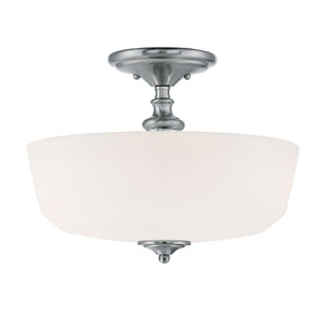 Evelyn Chrome and Polished Nickel Two-Light Semi Flush Mount