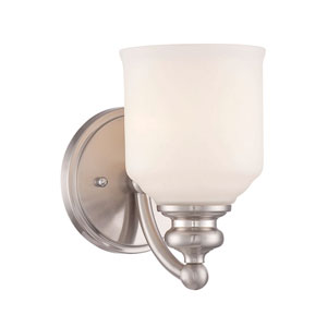 Evelyn Satin Nickel One-Light Bath Sconce