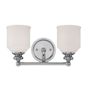Evelyn Polished Chrome Two-Light Bath Vanity