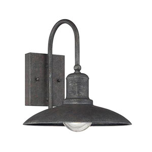 River Station Rust One-Light Outdoor Wall Sconce