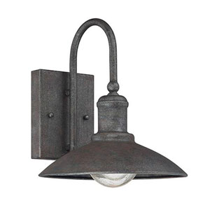 River Station Rust 10-Inch One-Light Outdoor Wall Sconce