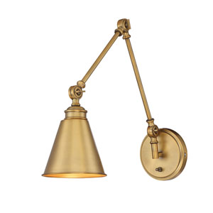 Linden Warm Brass One-Light Wall Sconce