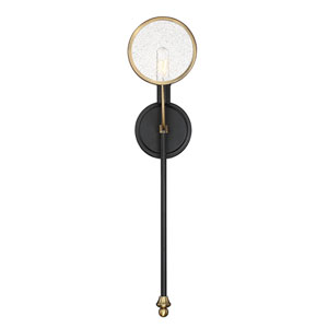 Uptown Vintage Black One-Light Wall Sconce