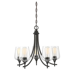 Selby Bronze Five-Light Chandelier