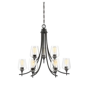 Selby Bronze Nine-Light Chandelier