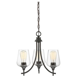 Selby Bronze Three-Light Chandelier