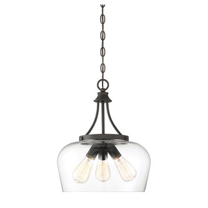 Selby Bronze 15-Inch Three-Light Pendant