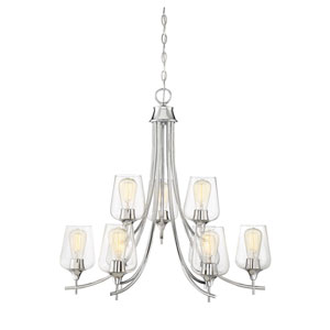 Selby Polished Chrome Nine-Light Chandelier