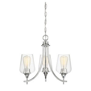 Selby Polished Chrome Three-Light Chandelier