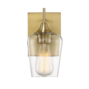 Selby Warm Brass One-Light Wall Sconce