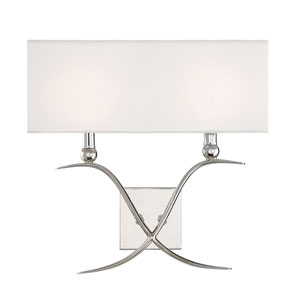 Linden Polished Nickel Two-Light Wall Sconce