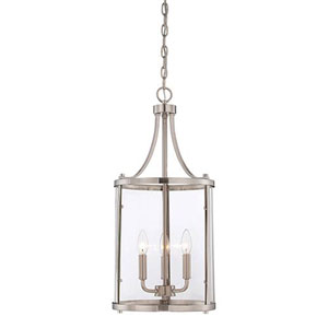 Selby Brushed Nickel and Pewter Three-Light Pendant