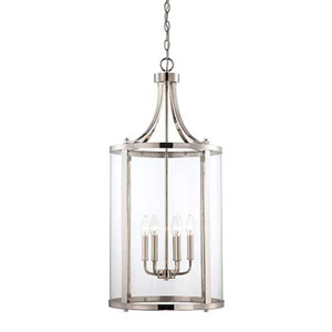 Selby Chrome and Polished Nickel Six-Light Pendant
