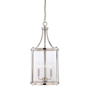 Selby Chrome and Polished Nickel Three-Light Pendant