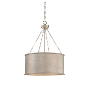 Vivian Silver Patina Four-Light Pendant