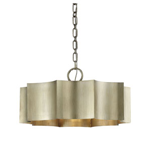 Whittier Silver Patina Three-Light Pendant