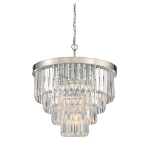 Vivian Polished Nickel 25-Inch Six-Light Pendant