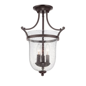 Evelyn Bronze Three-Light Semi Flush Mount
