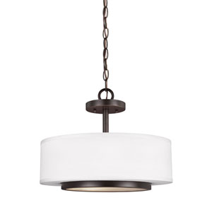 Linden Bronze Two-Light Convertible Pendant