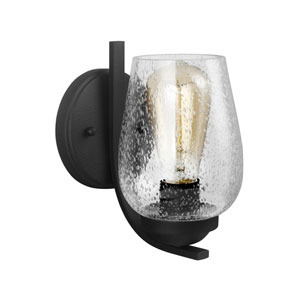 Selby Black One-Light Bath Sconce