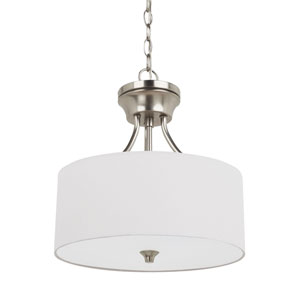 Selby Brushed Nickel Two-Light LED Convertible Pendant