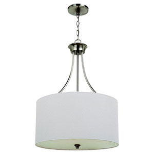 Selby Brushed Nickel Three-Light Pendant