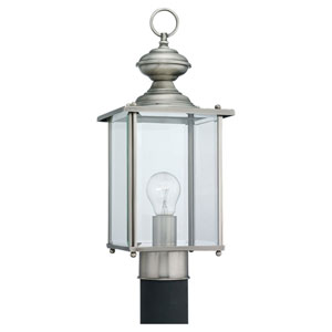 Evelyn Antique Brushed Nickel One-Light Outdoor Post Mount