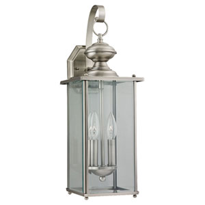 Evelyn Antique Brushed Nickel Two-Light Outdoor Wall Sconce