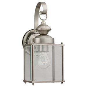 Evelyn Antique Brushed Nickel 13-Inch One-Light Outdoor Wall Sconce