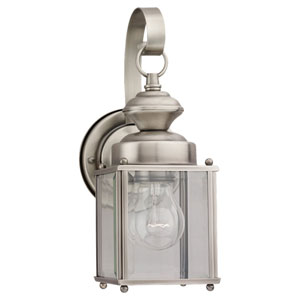 Evelyn Antique Brushed Nickel 11-Inch One-Light Outdoor Wall Sconce